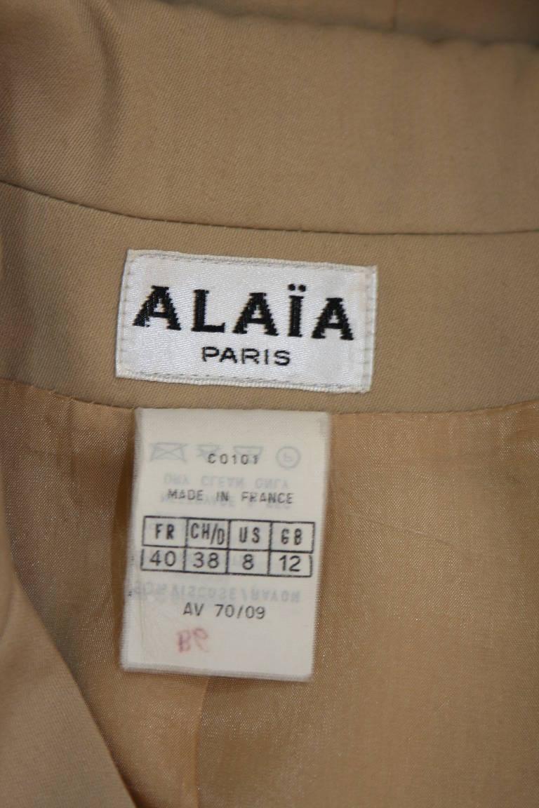 Alaia Khaki Nude Safari Style Blazer Size 40 8