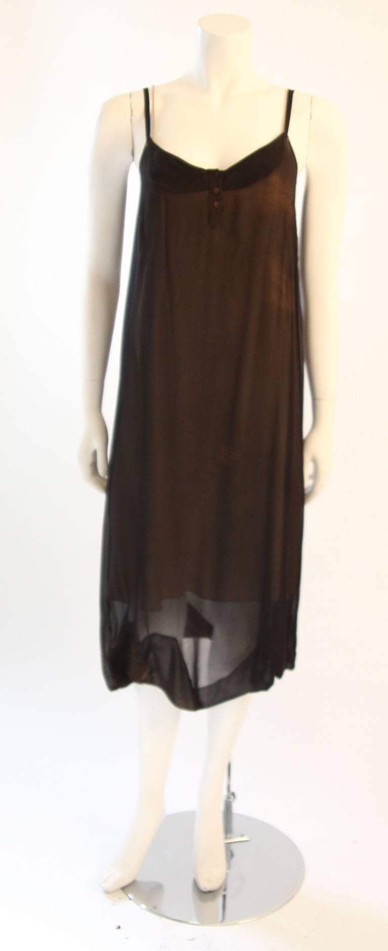 Chic Zac Posen Steam Punk Inspired Layered Black & Nude Silk Dress Ensemble For Sale 5