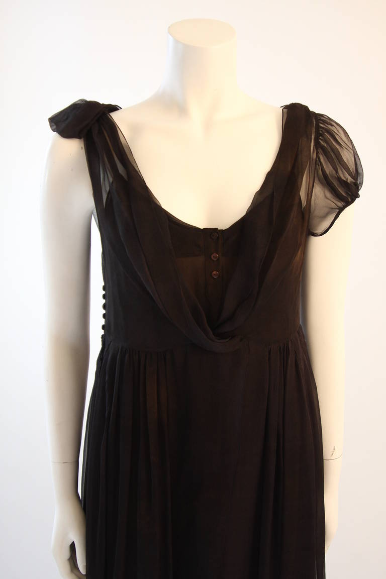 Chic Zac Posen Steam Punk Inspired Layered Black & Nude Silk Dress Ensemble In Excellent Condition For Sale In Los Angeles, CA