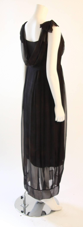 Chic Zac Posen Steam Punk Inspired Layered Black & Nude Silk Dress Ensemble For Sale 1