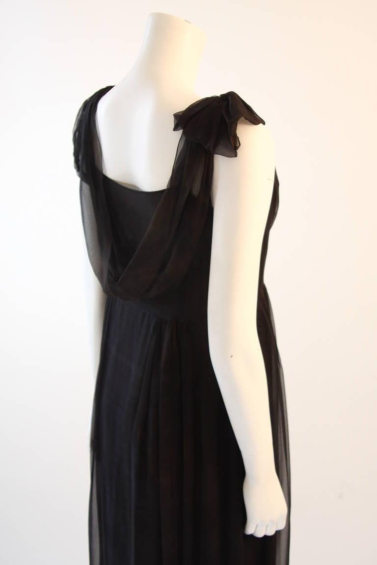 Chic Zac Posen Steam Punk Inspired Layered Black & Nude Silk Dress Ensemble For Sale 2