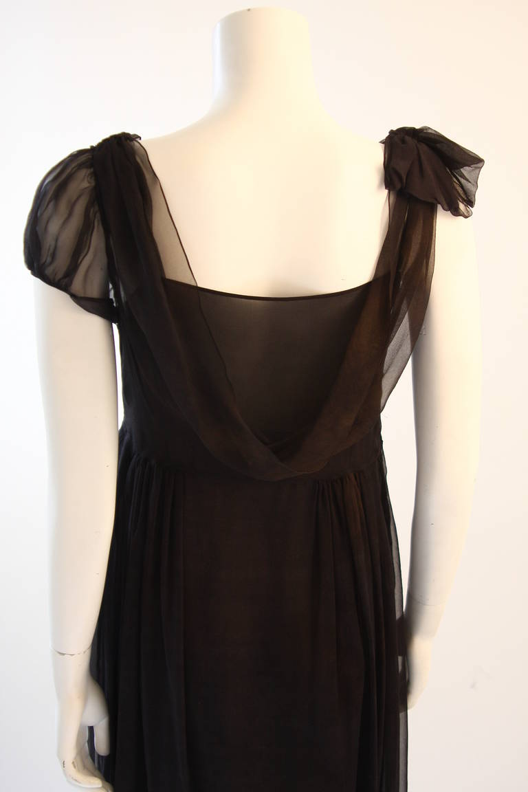 Chic Zac Posen Steam Punk Inspired Layered Black & Nude Silk Dress Ensemble For Sale 3