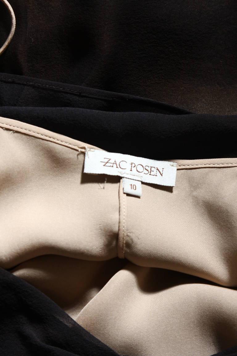 Chic Zac Posen Steam Punk Inspired Layered Black & Nude Silk Dress Ensemble For Sale 6