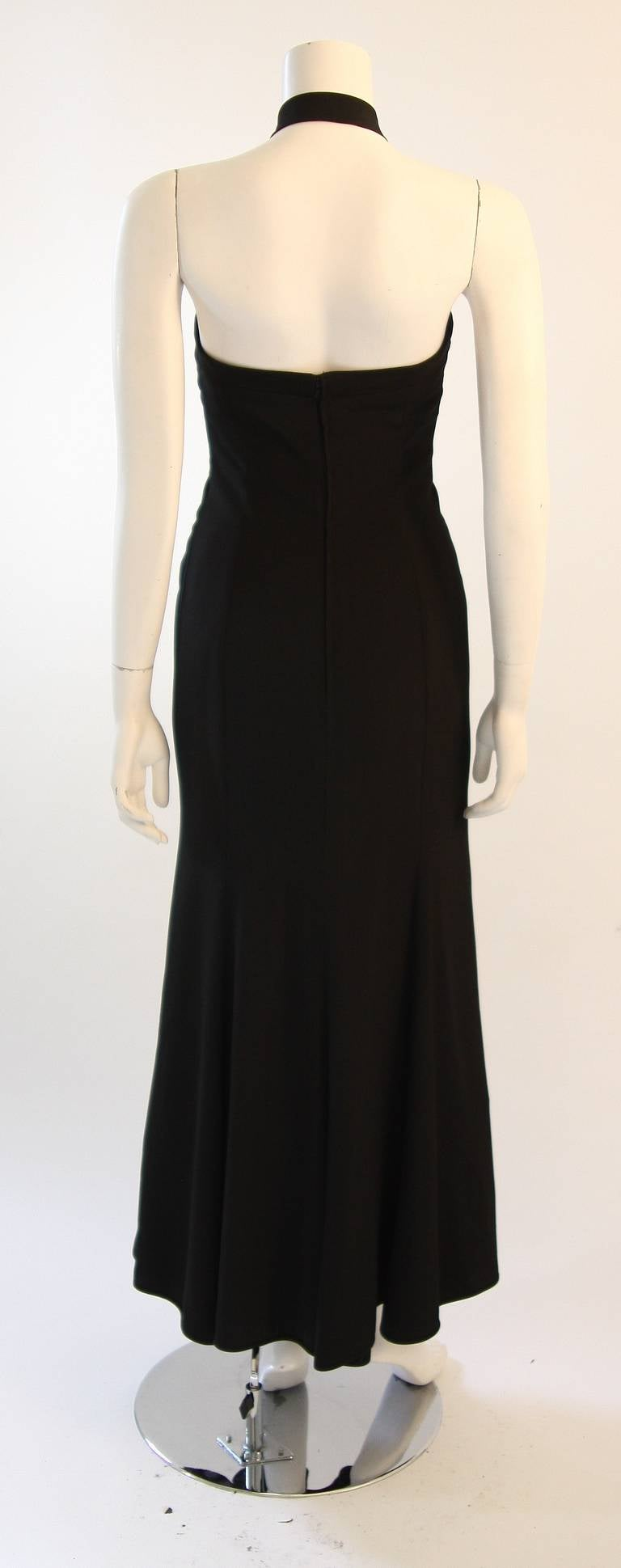 Emanuel Ungaro Evening Gown with Halter and Bow Size 6 For Sale 3