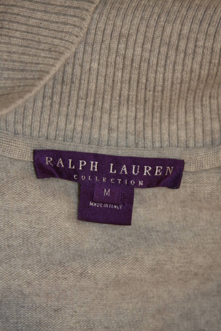 Ralph Lauren Full Length Cashmere Off-the-shoulder Dress Size Medium 10