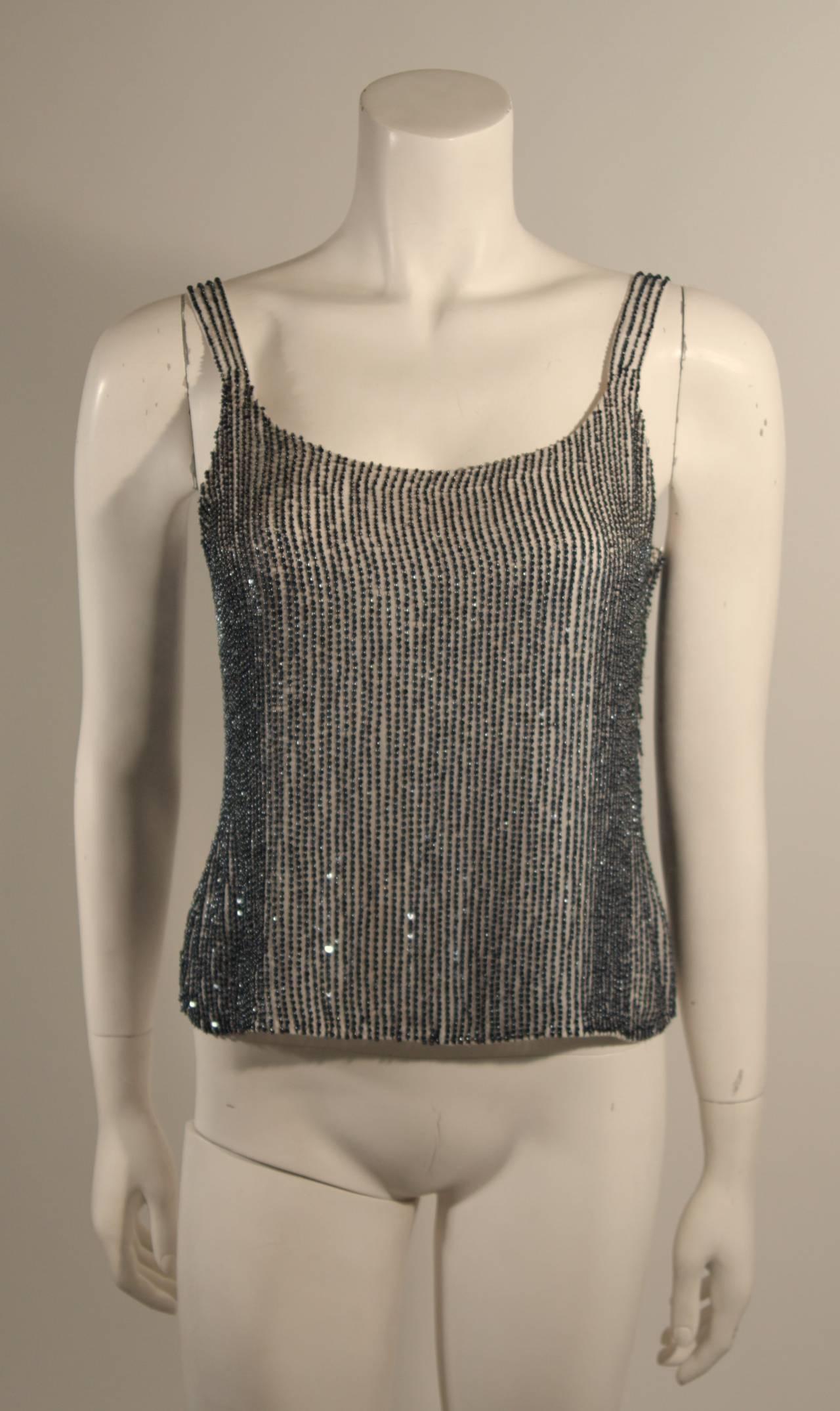 Oscar De La Renta Evening Blouse and Camisole Size 8 For Sale 4