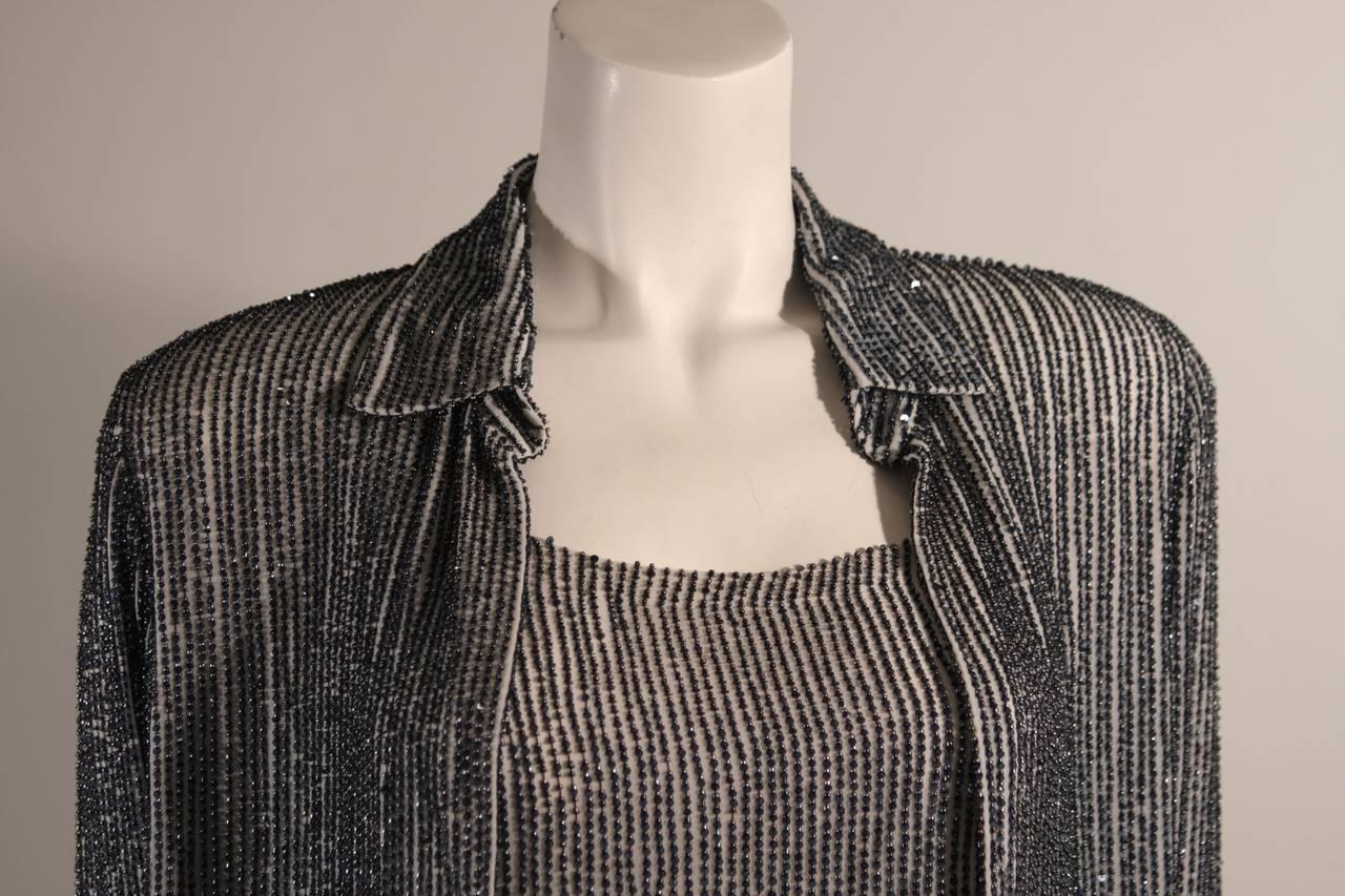 Women's Oscar De La Renta Evening Blouse and Camisole Size 8 For Sale