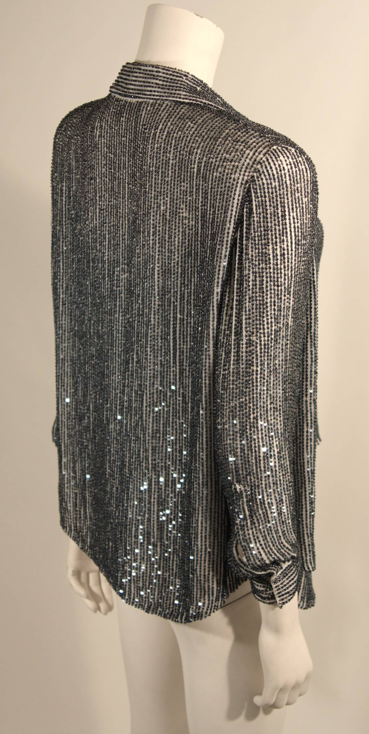 Oscar De La Renta Evening Blouse and Camisole Size 8 For Sale 1