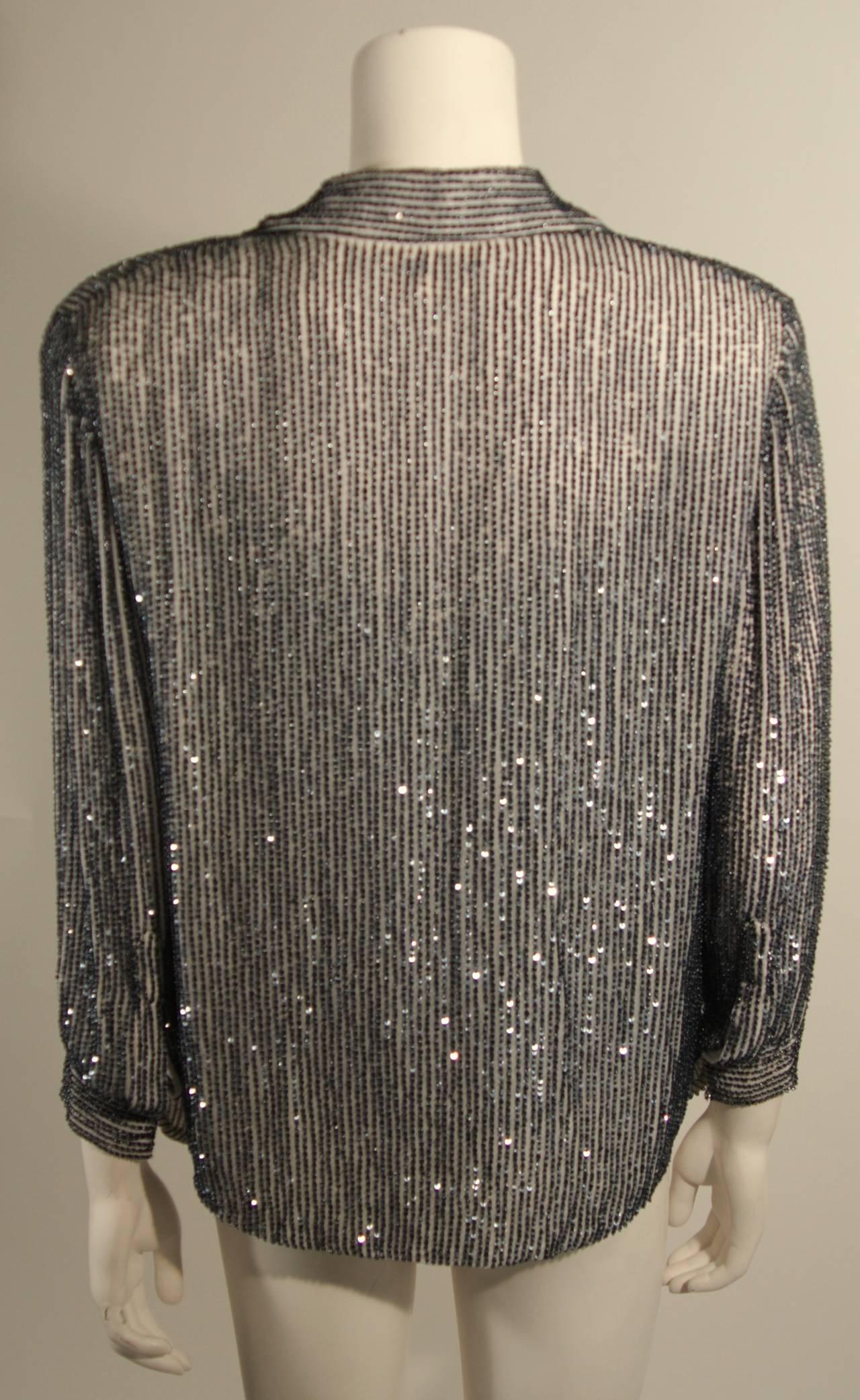 Oscar De La Renta Evening Blouse and Camisole Size 8 For Sale 2