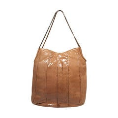 Judith Leiber Nude Snakeskin Hobo with Two Tone Chain NWT