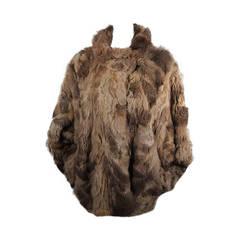 Fendi 365 Russian Squirrel Batwing Style Fur Coat