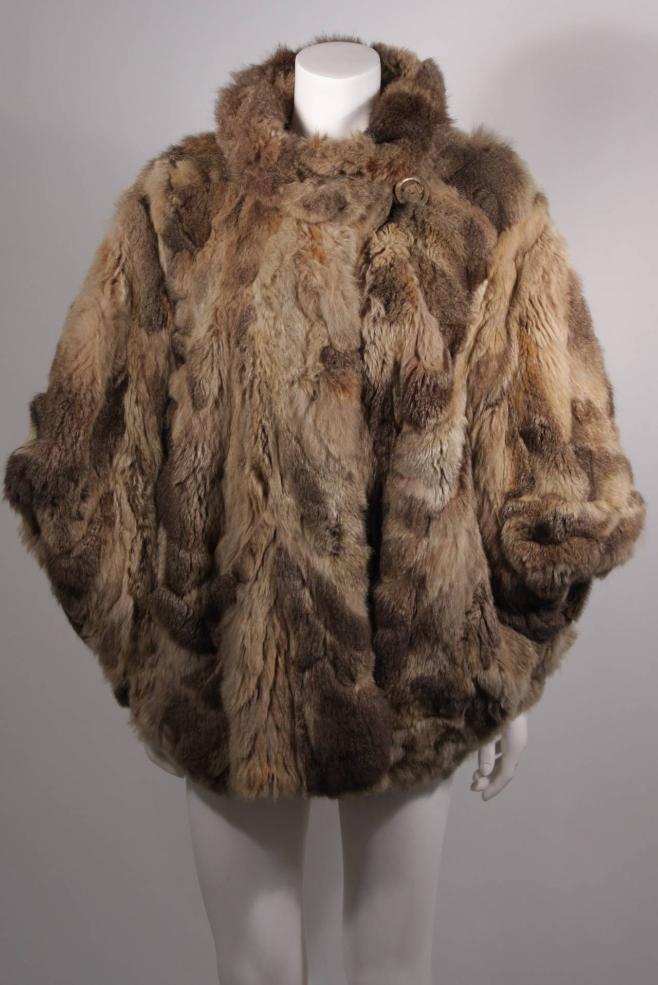 Fendi 365 Russian Squirrel Batwing Style Fur Coat For Sale