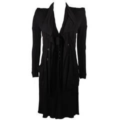 Lagerfield Black Jersey Dress and Jacket Ensemble Size 36