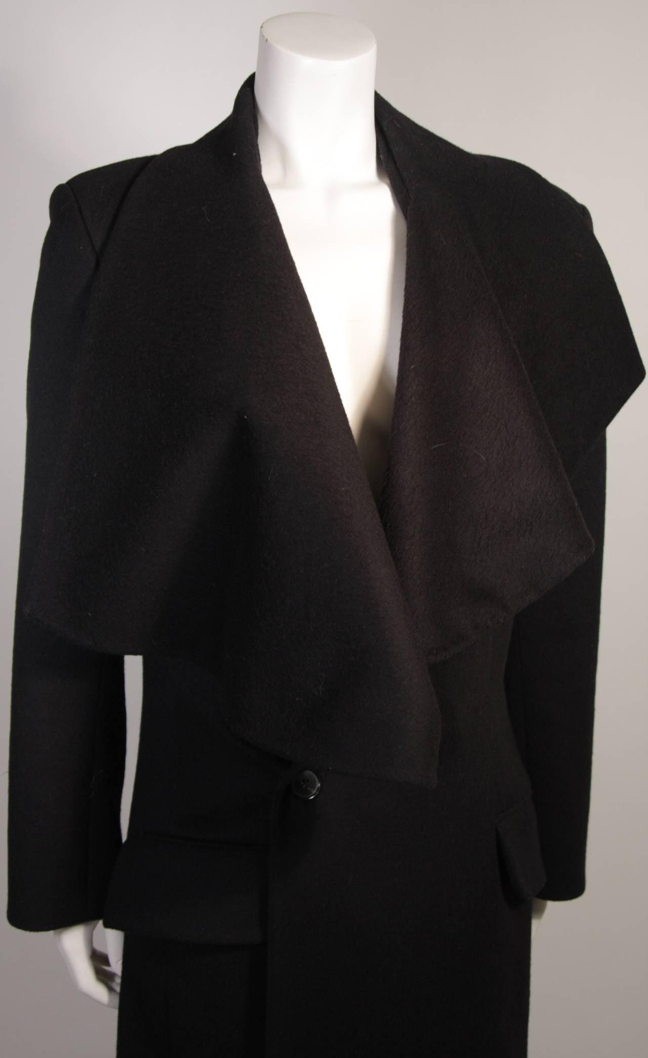 Women's John Galliano Over-Sized Asymmetrical Collar Coat Size 10 42 For Sale