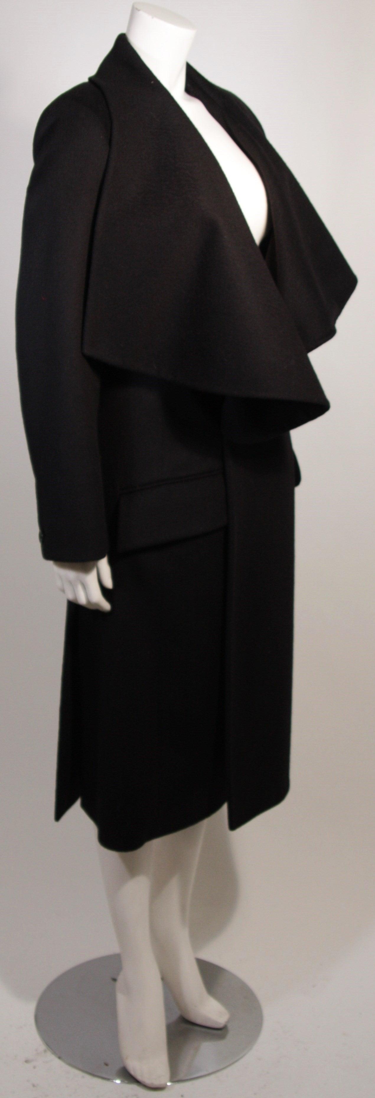 John Galliano Over-Sized Asymmetrical Collar Coat Size 10 42 For Sale 2