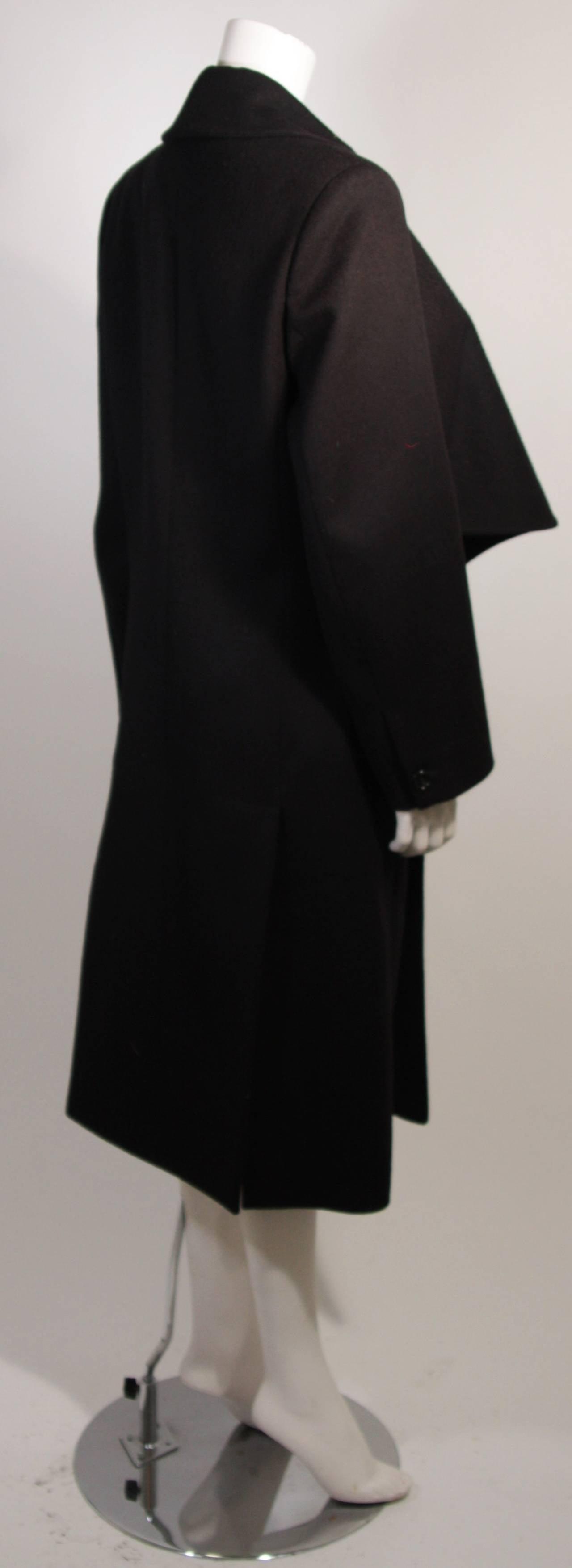 John Galliano Over-Sized Asymmetrical Collar Coat Size 10 42 For Sale 3