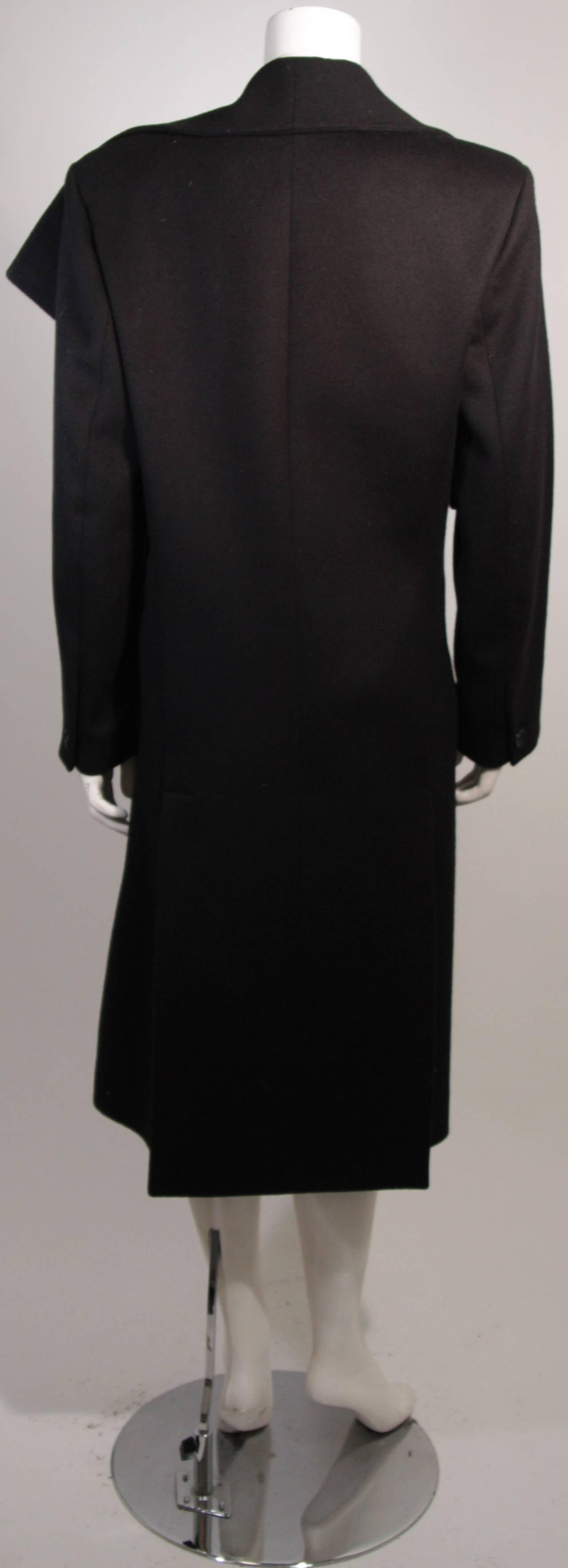 John Galliano Over-Sized Asymmetrical Collar Coat Size 10 42 For Sale 4