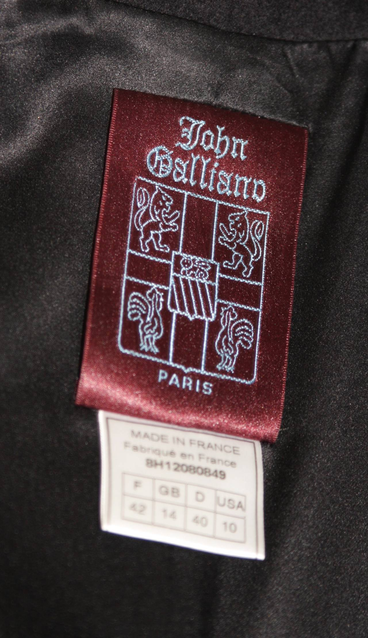 John Galliano Over-Sized Asymmetrical Collar Coat Size 10 42 For Sale 5