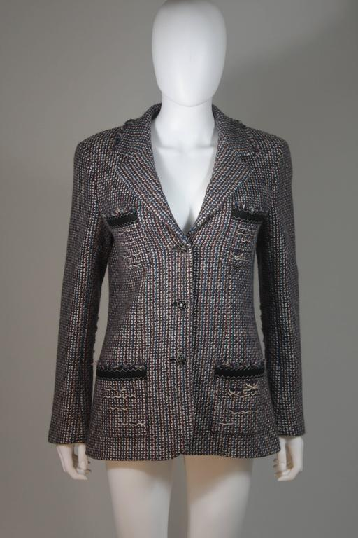 CHANEL Gold Metallic Tweed with Brown and Burgundy Skirt Suit Size 40 8
