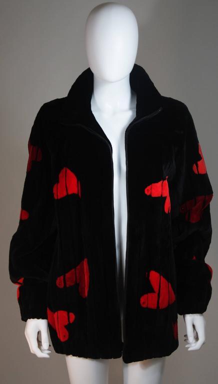 Women's ZUKI Onyx Sheared beaver 'HEARTS' Jacket Made to Order For Sale