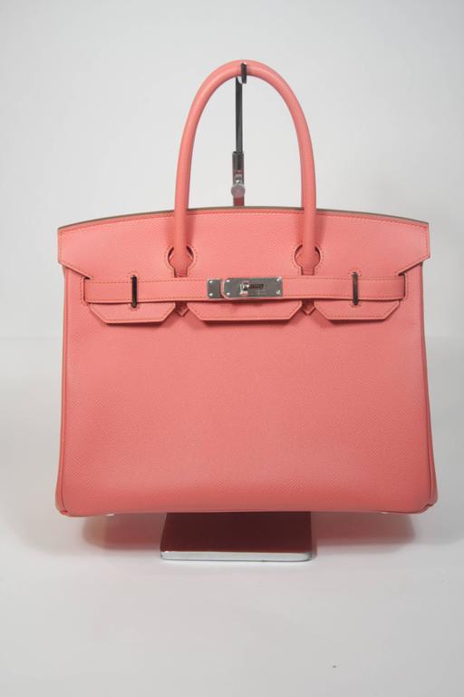 HERMES Birkin 30 Bag Rose Jaipur Pink Clemence Palladium Hardware 2