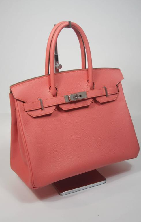 HERMES Birkin 30 Bag Rose Jaipur Pink Clemence Palladium Hardware 4