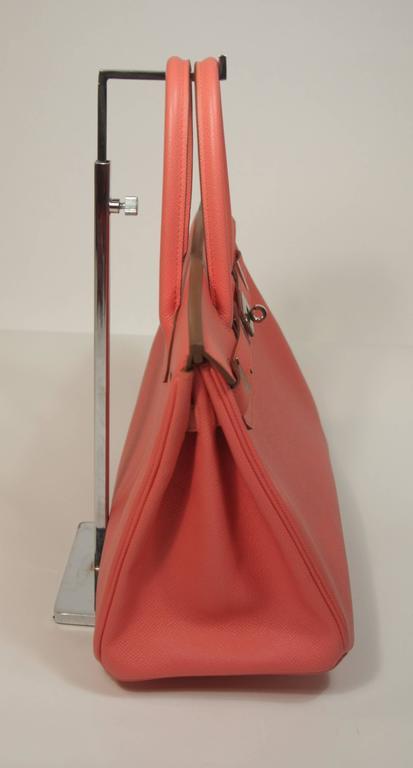 HERMES Birkin 30 Bag Rose Jaipur Pink Clemence Palladium Hardware 5