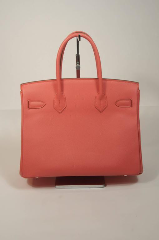 HERMES Birkin 30 Bag Rose Jaipur Pink Clemence Palladium Hardware For Sale 2