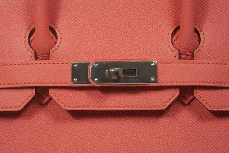 HERMES Birkin 30 Bag Rose Jaipur Pink Clemence Palladium Hardware In New Never_worn Condition For Sale In Los Angeles, CA