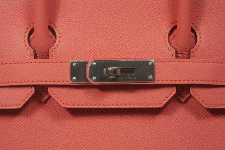 HERMES Birkin 30 Bag Rose Jaipur Pink Clemence Palladium Hardware 3