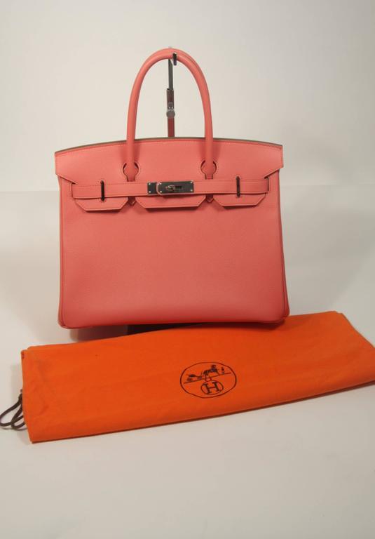 HERMES Birkin 30 Bag Rose Jaipur Pink Clemence Palladium Hardware For Sale 5