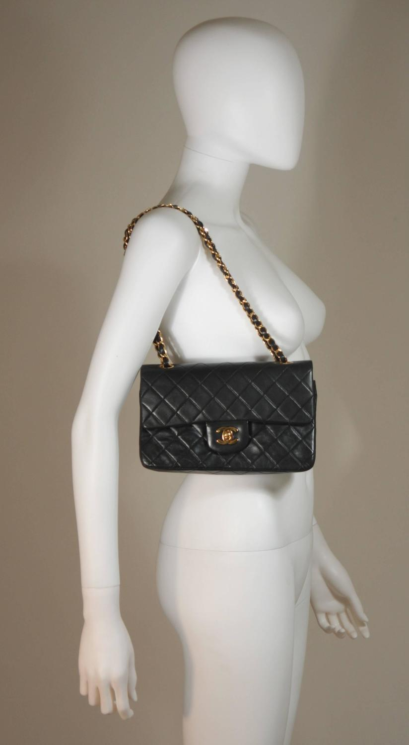 Chanel Black Quilted Caviar Maxi Classic Flap Bag SHW at 1stdibs