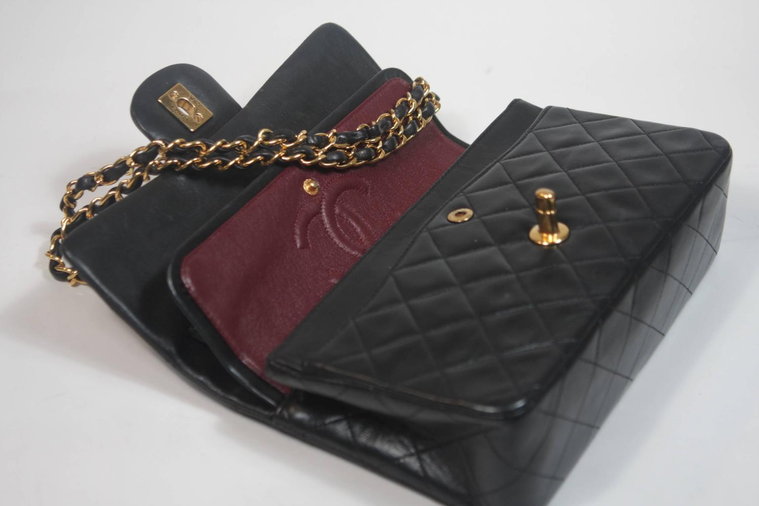 Chanel 2016 NEW w/ TAG Black Leather Quilted XL Flap Bag at 1stdibs