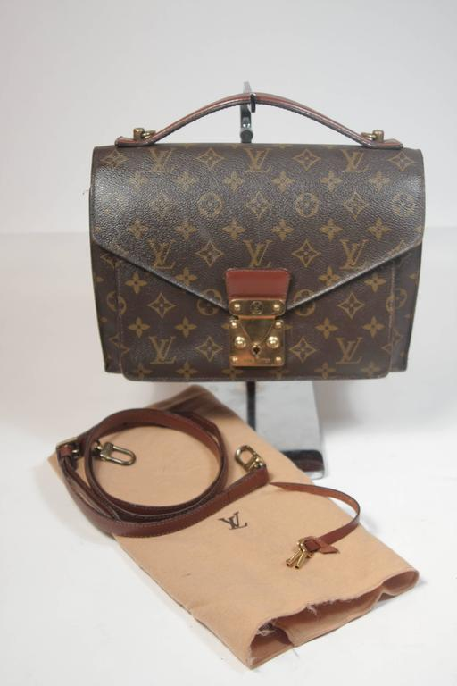 6149a19349f4 LOUIS VUITTON MONCEAU Top Handle Purse with Optional Cross Body Strap For  Sale 6
