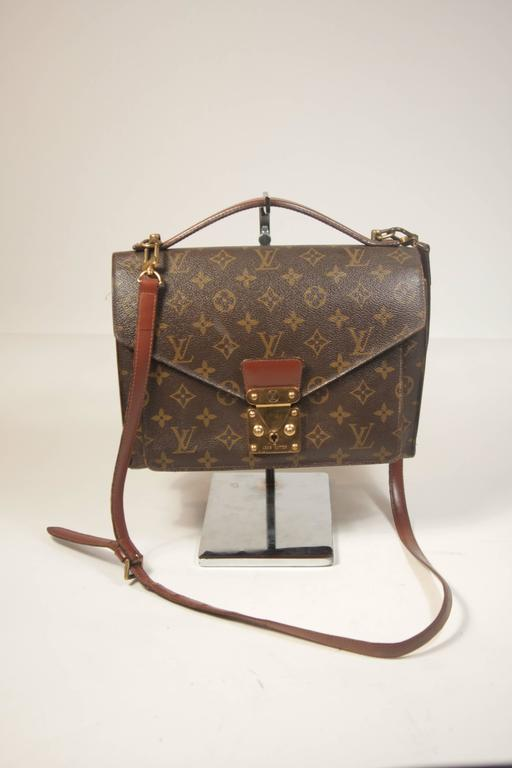5d2b2e55a746 Women s LOUIS VUITTON MONCEAU Top Handle Purse with Optional Cross Body  Strap For Sale