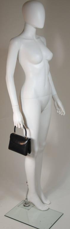 JUDITH LEIBER Navy Lizard Skin Purse with Top Handle & Silver Hardware In Excellent Condition For Sale In Los Angeles, CA