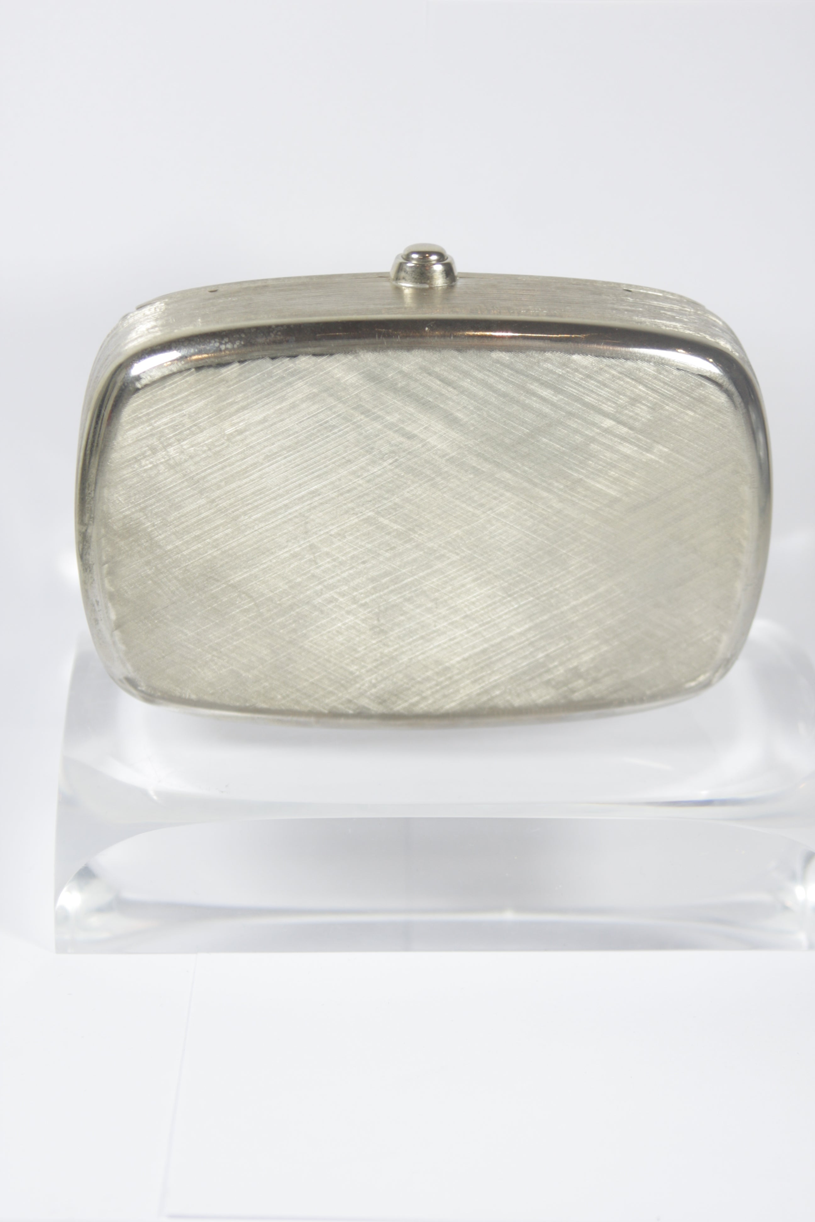 Judith Leiber Brushed Metal Evening Purse With Stone Details Optional Strap NOaZasUJT