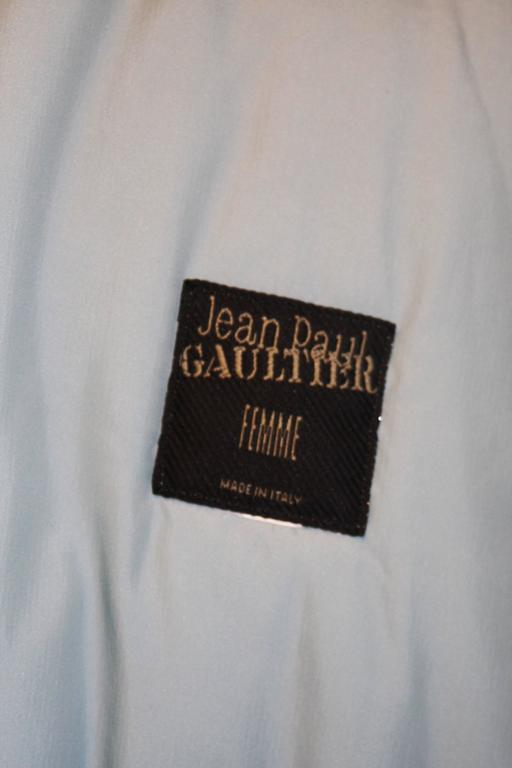 JEAN PAUL GAULTIER Purple Velvet Puff Cloak with Pointed Hood Size 42 For Sale 5