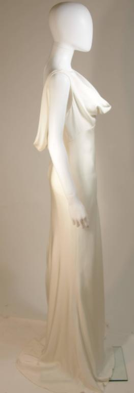 MONIQUE IHUILLIER BLISS Ivory Silk Empire Style Bias Cut Gown Size 4 6
