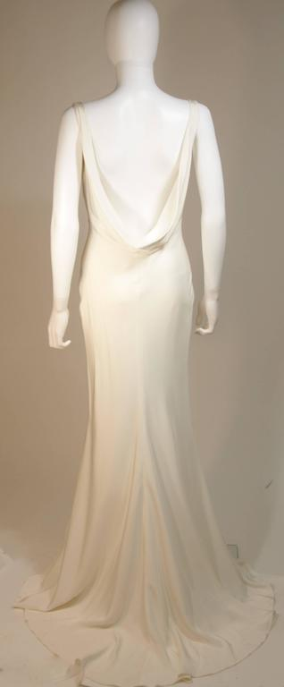 MONIQUE IHUILLIER BLISS Ivory Silk Empire Style Bias Cut Gown Size 4 8
