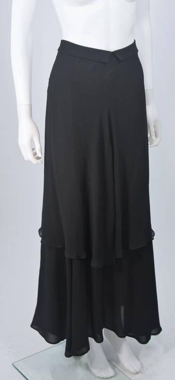 YOHJI YAMAMOTO Black Layered Silk Chiffon Skirt Size 3 In New Condition For Sale In Los Angeles, CA