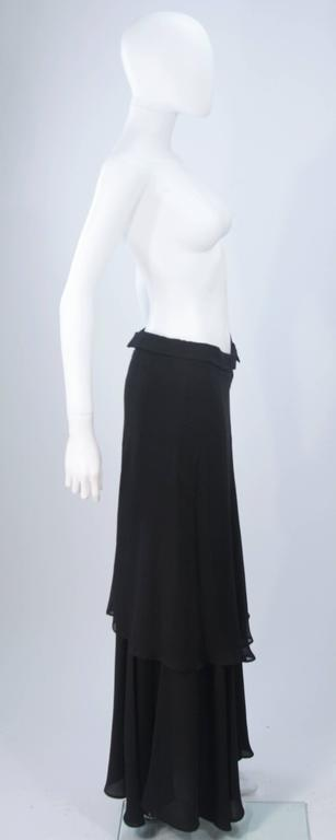 Women's or Men's YOHJI YAMAMOTO Black Layered Silk Chiffon Skirt Size 3 For Sale