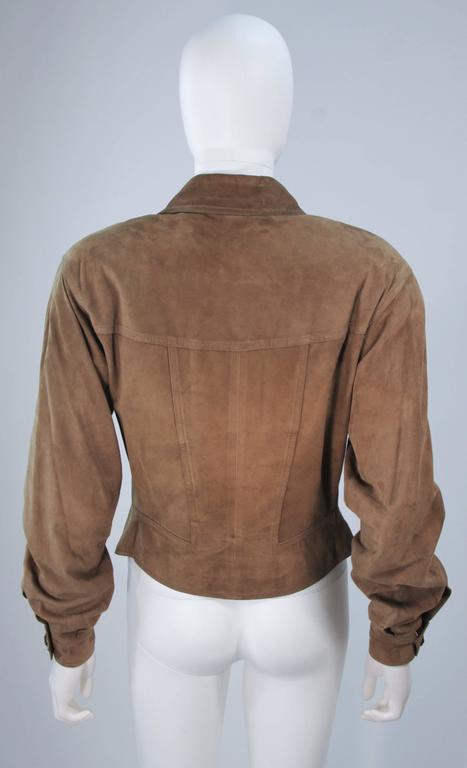 1e17ff505 GUCCI Brown Suede Jacket Size 40 For Sale at 1stdibs