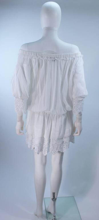 DOLCE AND GABBANA White Tunic with Lace Trim Size 2  9