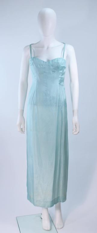 CHRISTIAN DIOR HAUTE COUTURE Aqua Draped Gown Size 0 2 For Sale 4