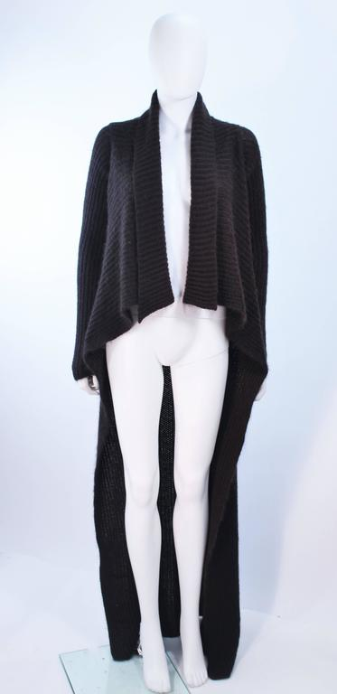 RICK OWENS Brown Knit Draped Sweater Size Small 2