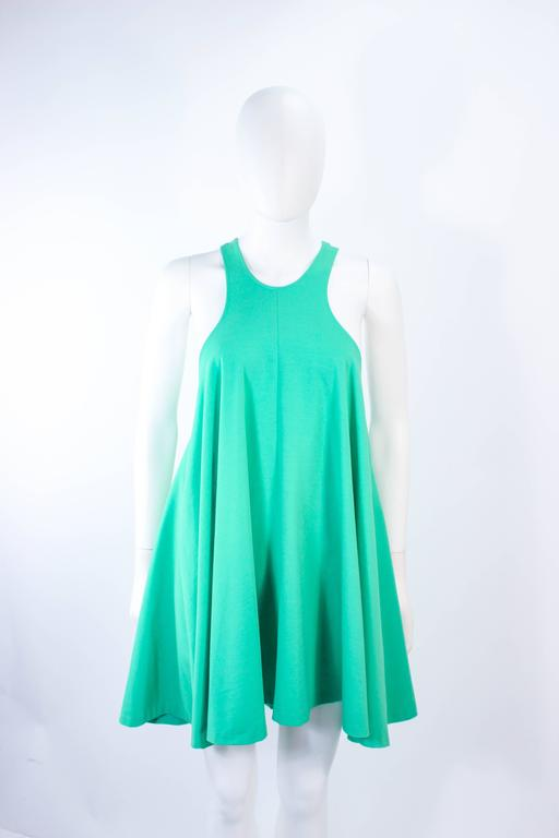 NORMA KAMALI OMO Mint Green Stretch Knit Trapeze Dress and Crop Pants Size M P For Sale 4
