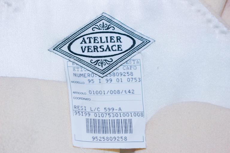 Atelier Versace Ivory Crepe Sculpted bust cocktail dress owned by Madonna Size 2 10