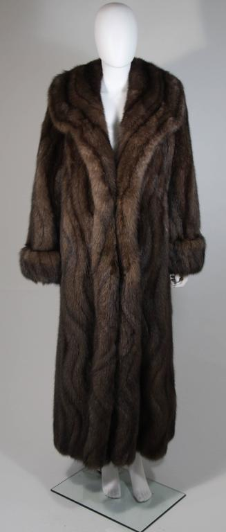 Black Russian Sable Coat with Wave Pattern Excellent Condition Retail $300,000.00 For Sale
