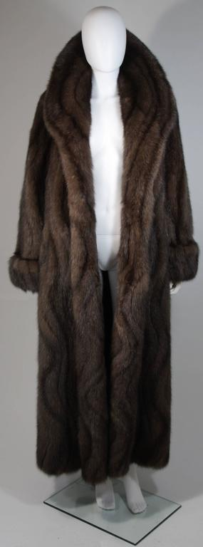 Russian Sable Coat with Wave Pattern Excellent Condition Retail $300,000.00 In Excellent Condition For Sale In Los Angeles, CA